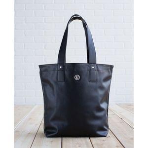 Lulu Mantra Tote Reversible Black Large Big Bag